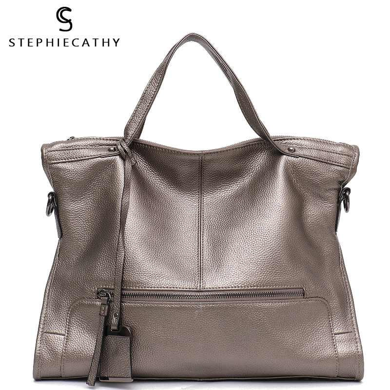 SC Luxury Genuine Leather Handbags for Women Shoulder Bag Large Tote Bags Big Cow Leather Ladies