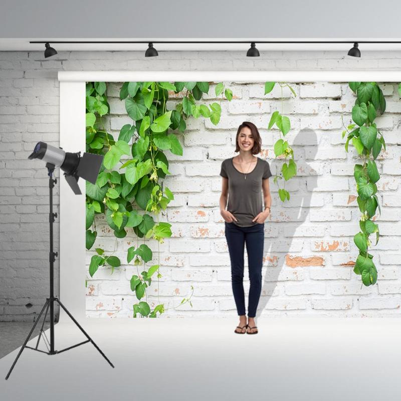 Image 5 - Green Plant Brick Texture Photography Background Cloth Backdrop Photo Decor For Photo Studio-in Background from Consumer Electronics