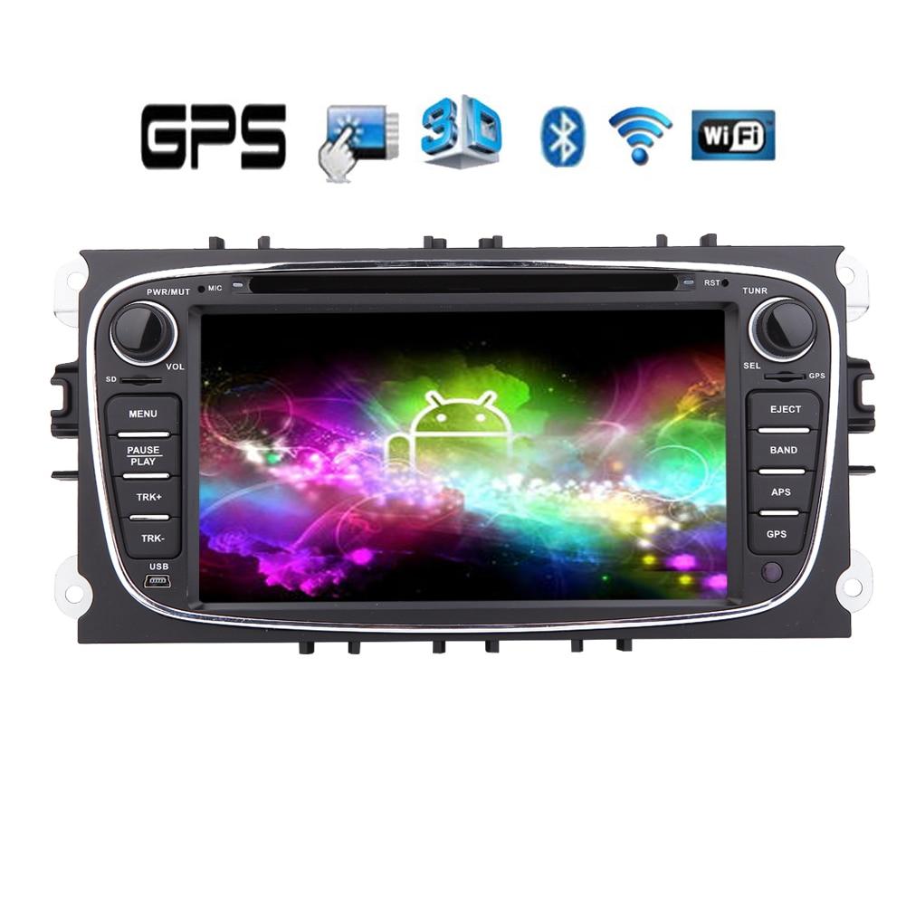 Авторадио плеер для Ford Mondeo Focus компакт диск FM PC СИСТЕМА ПРИЛОЖЕНИЕ Музыка Android 5,1 автомобильный DVD WiFi Bluetooth Стерео навигация GPS радио
