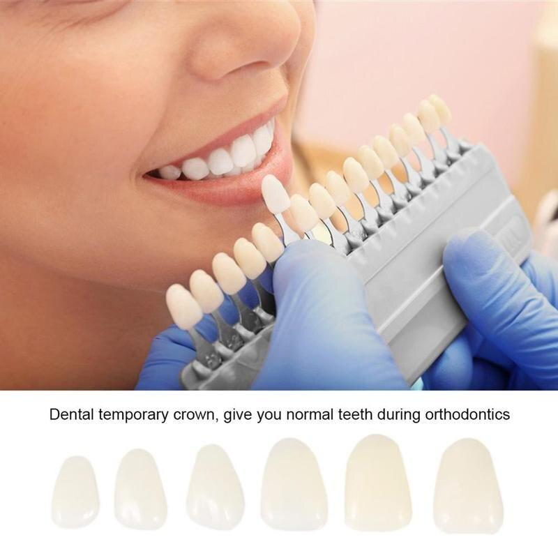 100Pcs Resin Dental Veneers Teeth Patch Ultra-Thin Whitening Veneers Teeth Upper Anterior Teeth Provisionals Beauty Health Tool