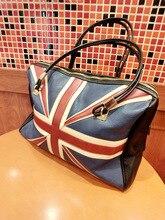 Neue Mode frauen Britischen Stil Union Jack UK Flag Leder Handtasche Schulter Big Bag Auf Lager Vintage Umhängetasche