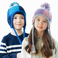 Детские Южнокорейских KK дерево детские зимние шапки, мальчики и девочки, мальчики и девочки теплая шерсть шапка шапка 2-4-8 лет
