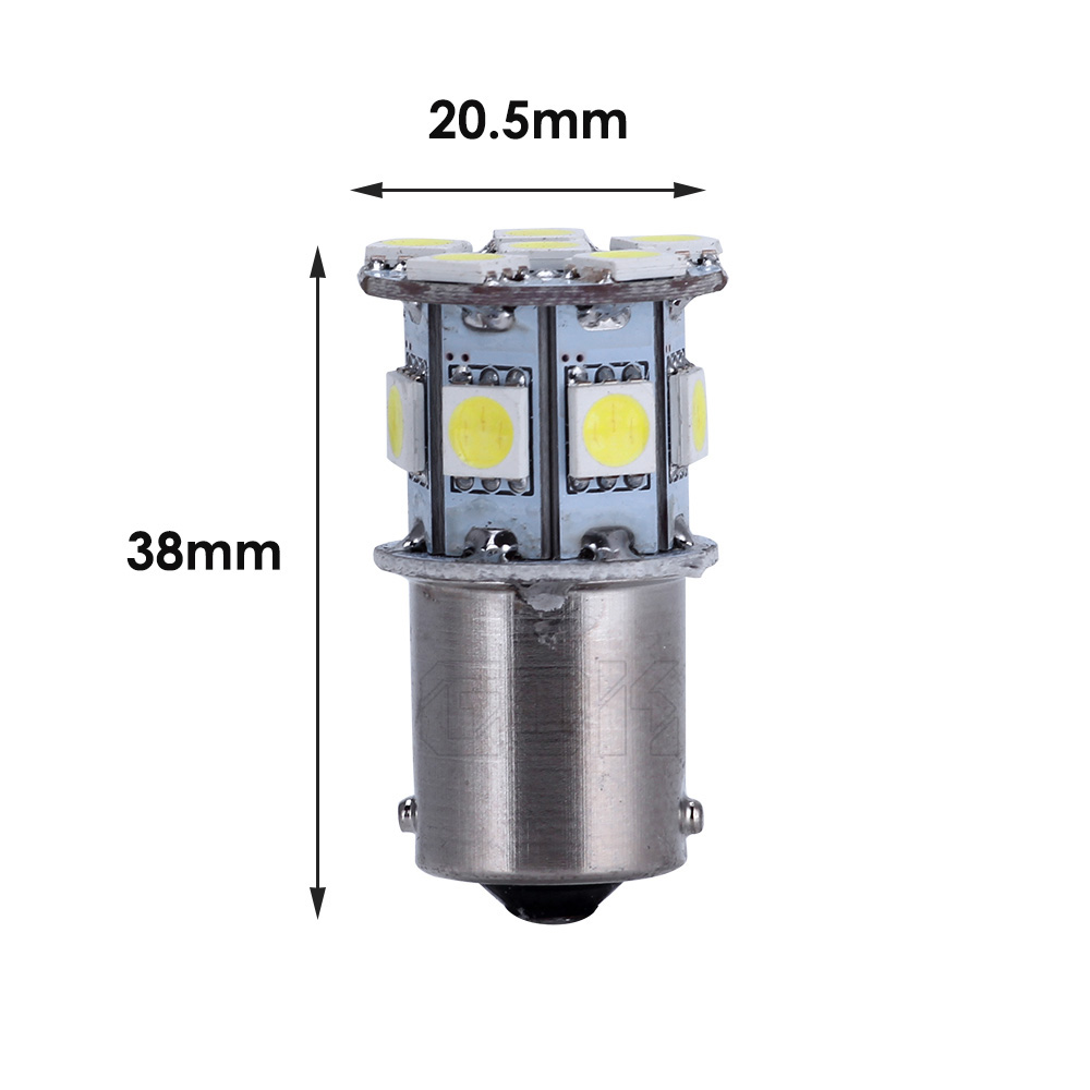 100pcs Car Led 1142 BA15D 13 SMD 5050 led 1142 1157 1156 13smd led Turn Signal LED Bulbs Auto Rear Brake light in Signal Lamp from Automobiles Motorcycles