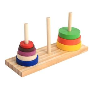 Image 5 - Rainbow Blocks Wooden Toys For Kids Wooden Tower Early Education  Building Blocks Parent Child Interactive Educational Toys 3 Y