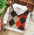 Good Quality Fashion Newest Baby Kids Boys Sweater+Shirts 2in1 Cotton Wool Shirts Outwear Long Sleeve