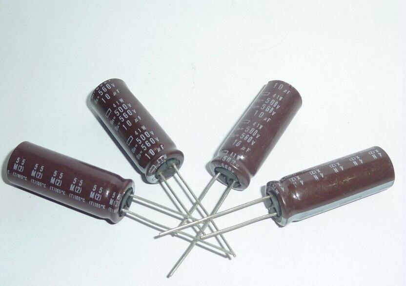 5pcs 10uF 500V NIPPON 41W Series 12.5x35mm Original 500V10uF Aluminum Electrolytic Capacitors