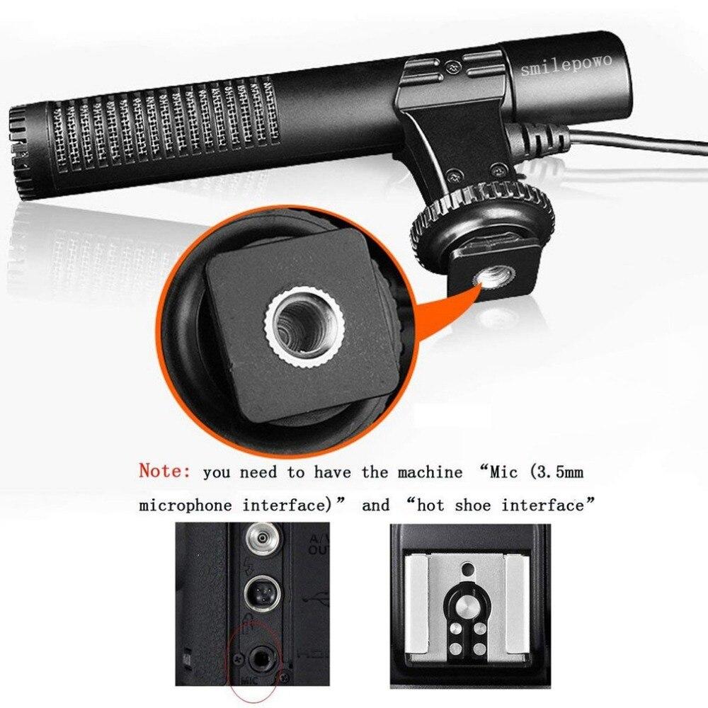 MIC-01 SLR камера Микрофон фотография видео камера стерео запись микрофон для цифровой SLR камеры видеокамеры