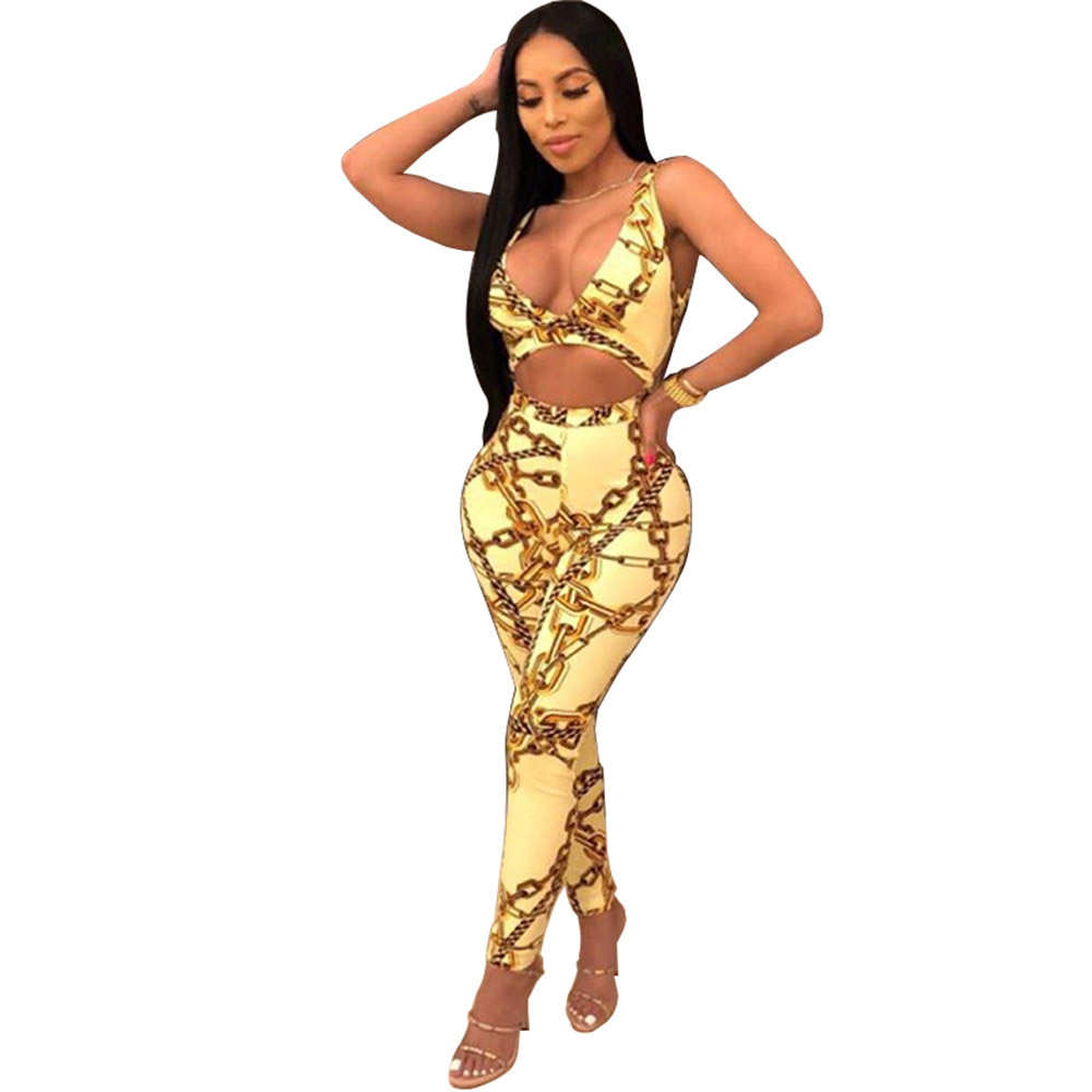 Strapless Print Spaghetti Strap Rompers Womens Jumpsuit Sexy Club Backless Hollow Out Sleeveless Women Jumpsuits