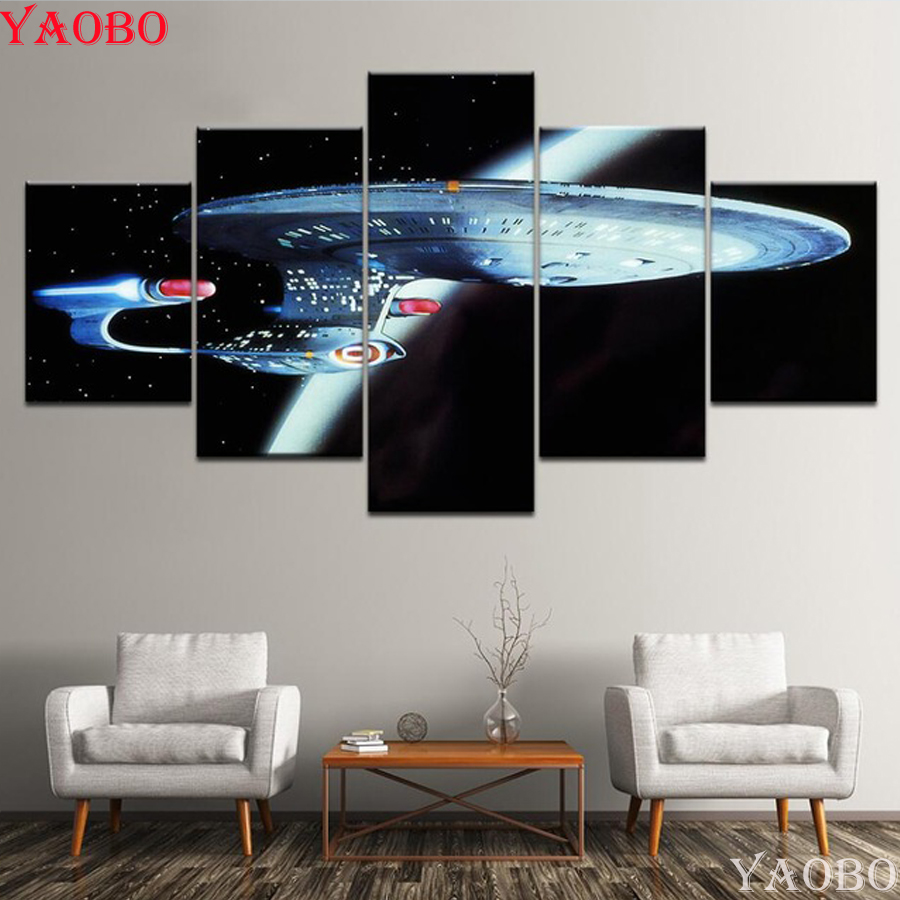 diamond painting 4pcs/set Movie Poster Star Trek Diamond embroidery mosaic Painting Living Room Office Bathroom Restaurant Decor image