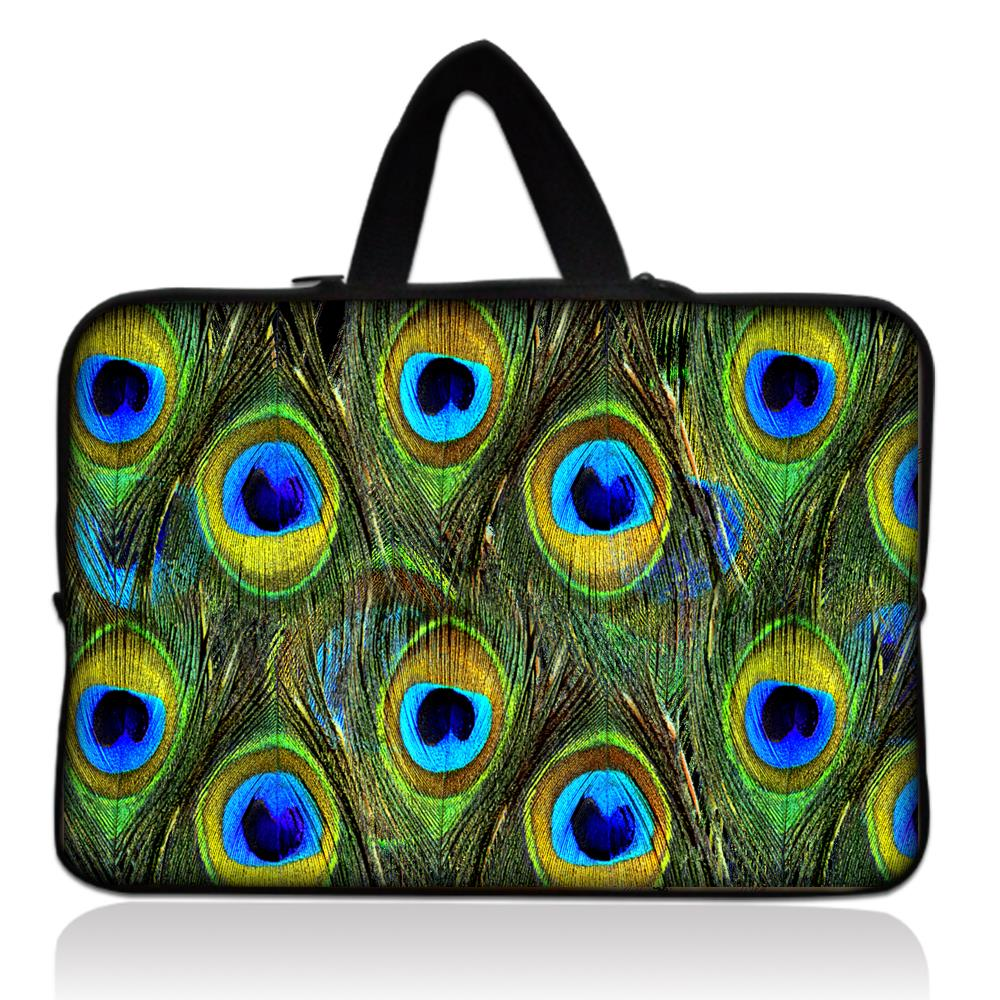 13 Peacock Feather Laptop Sleeve Bag PC Carry Case Cover Neoprene Bag For 13.3 Dell XPS 13 Lenovo Yoga 3 Pro For Macbook Air