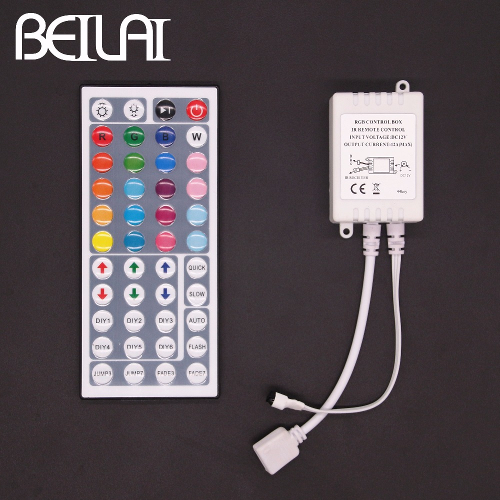Beilai Smd 2835 Rgb Led Strip Waterproof 60led M 5m 300led Dc 12v Light Wiring 6a 44keys Ir Remote Control Controller Dimmer For 5050 3528 Tape