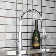 Новый хромированный воды краны Кухня умывальник кран + горячей и холодной 92453 бассейна раковины водопроводной воды сосуд санузел смесители, смеситель