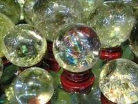 Wholesale Yellowish Gemstone Amethyst Rock Rose Quartz Crystal Sphere Hand Carved Gem Stone Ball For Crystal