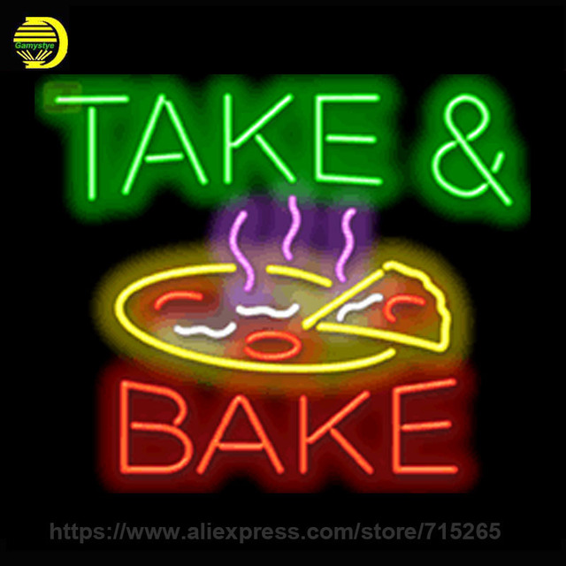 Neon Sign Take Bake Neon Light Sign Food Cool Neon Signs Arcade