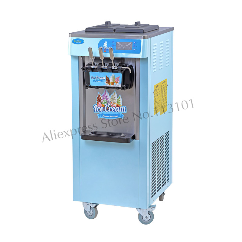 Ice Cream Making Machine Commercial Softy Ice Cream Maker Blue Pink Colorful Universal Wheels for Snack Bar Ice-cream ParlorIce Cream Making Machine Commercial Softy Ice Cream Maker Blue Pink Colorful Universal Wheels for Snack Bar Ice-cream Parlor