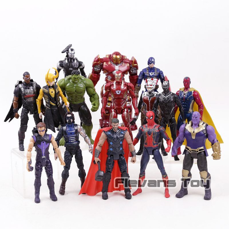 Marvel Avengers 3 infinity war Movie Anime Super Heros Captain America Ironman Spiderman hulk thor Superhero Action Figure Toy marvel avengers infinity war thanos ironman spiderman thor captain american venom hulk black panther figure vinyl model toys