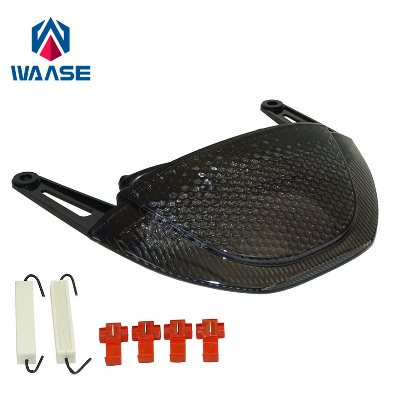 Waase pour Honda CBR600RR CBR 600 RR 2007 2008 2009 2010 2011 2012 e-mark arrière feu stop clignotants intégrés lumière LED