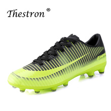2018 New Men Teens Soccer Cleats Turf Football Shoes Hard Court Sneakers Trainers Design Boots Size 36-44