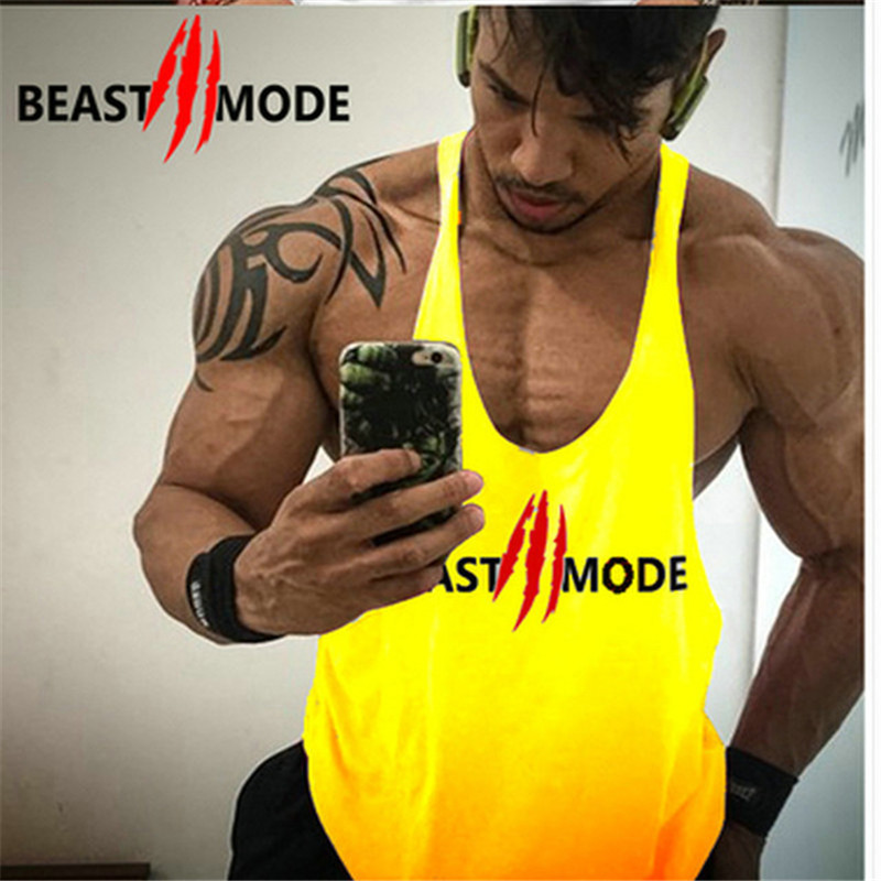 Mens gyms stringer   tank     top   fitness vest canotta bodybuilding clothing muscle   tanks   singlet cotton workout Sleeveless shirt 2019