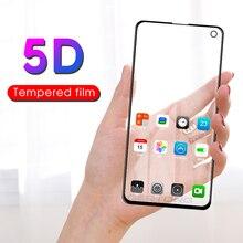 5D изогнутое полное покрытие закаленное стекло для samsung Galaxy S10e J8 J6 J4 Plus 9H Передняя Защитная пленка для экрана