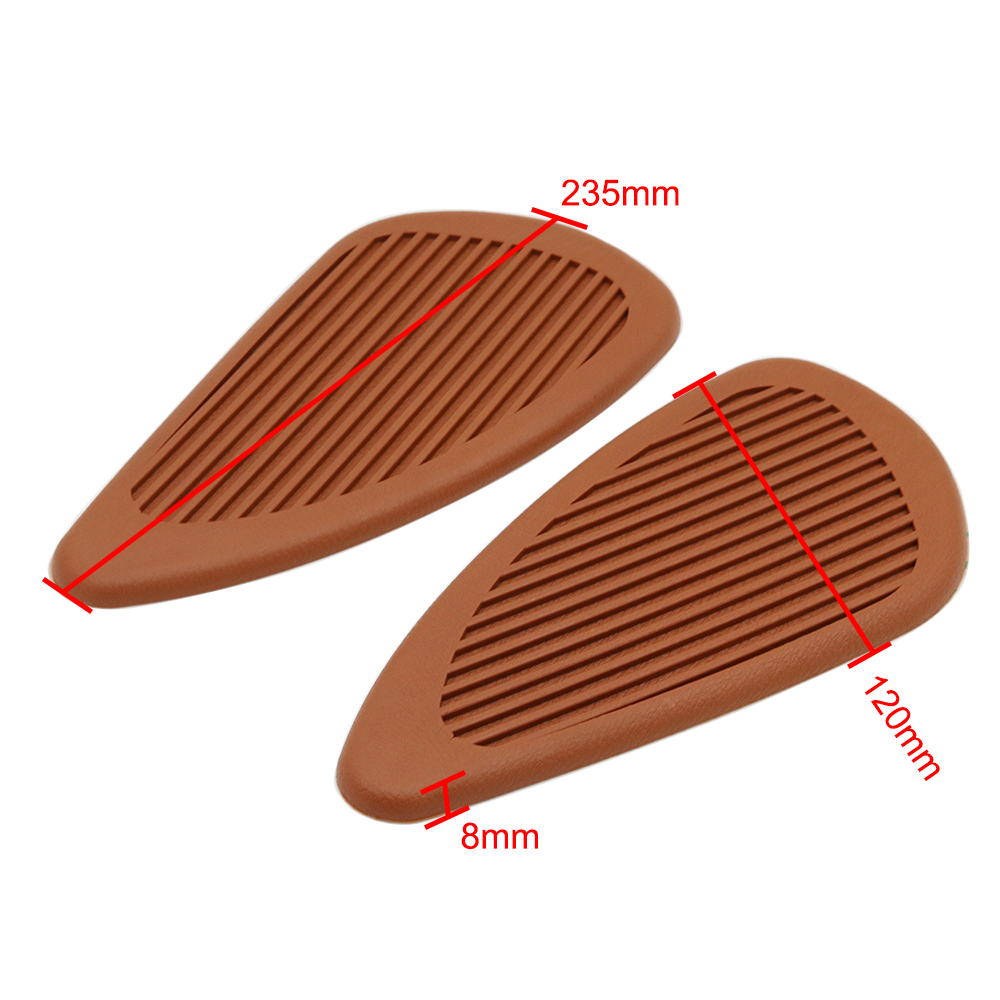 Exterior Accessories Motorcycle Rubber Vintage Gas Tank Knee Pads Side Panel Traction Pad Sticker For Harley Cafe Racer Classic Universal