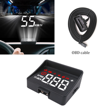 GEYIREN Car hud a100s obd display windshield projector temperature car electronics Overspeed Warning System