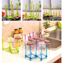OOTDTY Baby Feeding Bottle Rack Drying Nipple Stand Cup Storage Folding Drainer Dryer