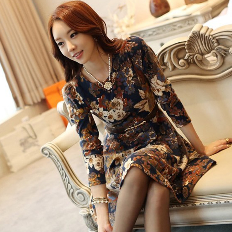 Buy Cheap 2017 new fashion woman clothes casual ropa roupa feminina vestidos femme vetement tropical vintage tweed clothed female dress