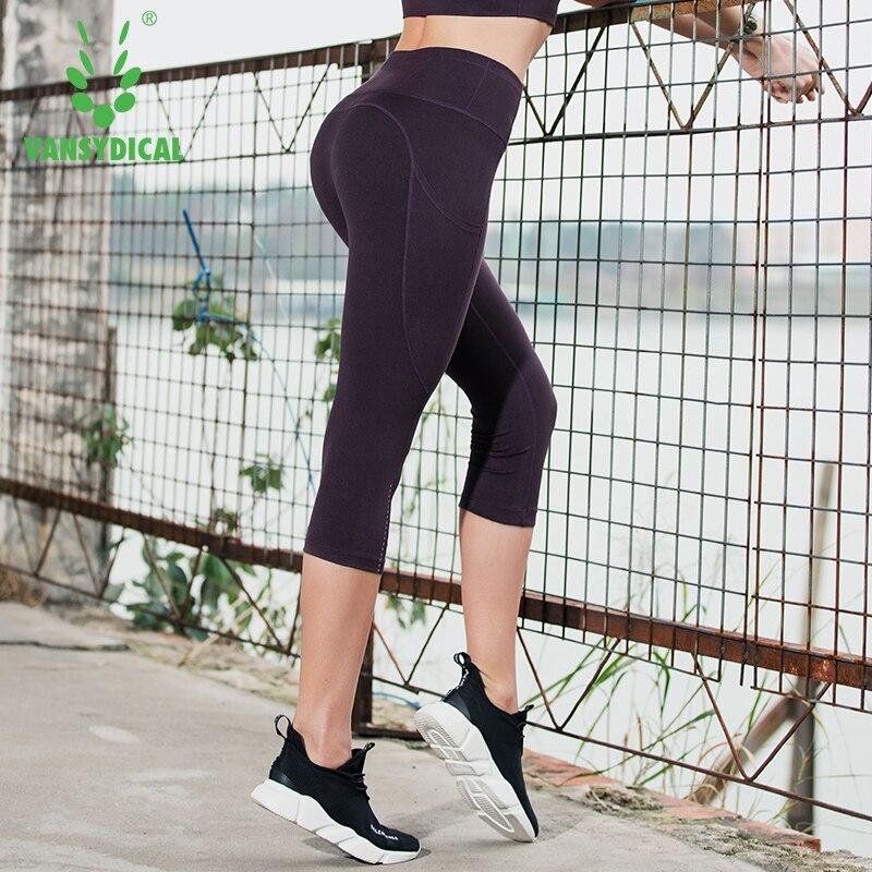 Strumpfhosen Haben Sie Einen Fragenden Verstand Vansydical Sommer Yoga 3/4 Hosen Frauen High-taille Fitness Laufhose Schnell Trocknend Training Sport Gym Leggings Herausragende Eigenschaften