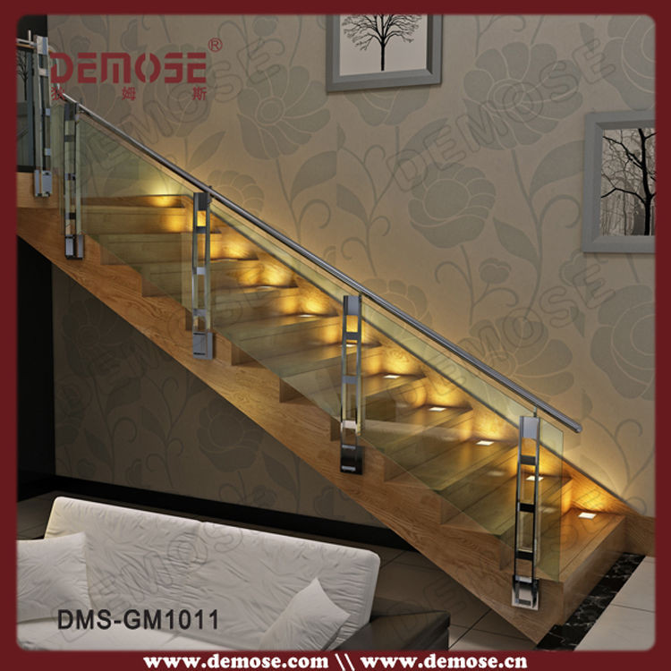 online shop wood nosing stairs with glass railing design rh m aliexpress com modern staircase glass railing designs modern glass stair railing design