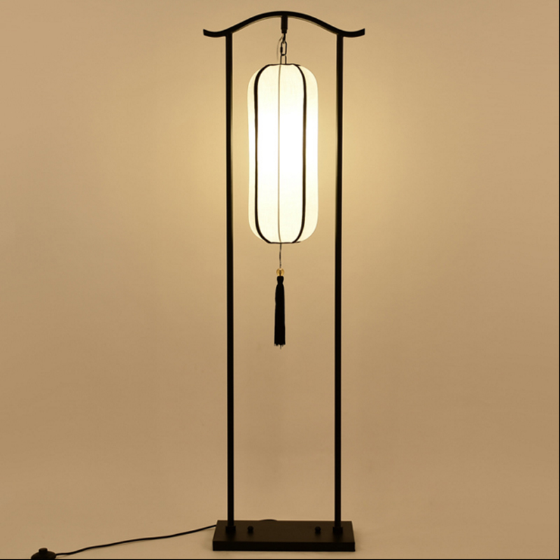 The new Chinese style decorative lighting Floor lamp club creative living room study bedroom bedside Floor lamp Hotel lamps american solid wood floor lamp room bedroom bedside floor lamps in simple vertical style hotel room lamp bedside lamp lights