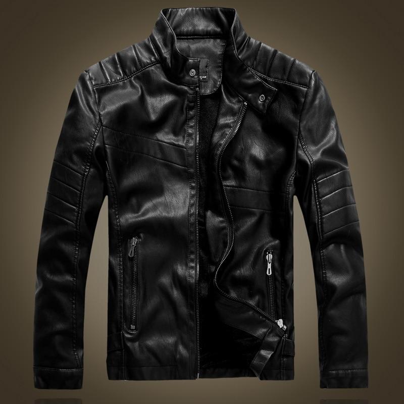 DHFinery toamna jacheta din piele de iarna pentru barbati plus - Imbracaminte barbati