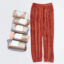 Women Home Pants Thick velvet flannel pajama pants Loose outerwear autumn winter Sleeping