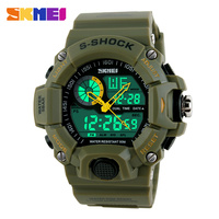 Free Shipping Waterproof Sports Military Camo Watches Men's Analog Quartz Digital Watch Girl Watch 1029