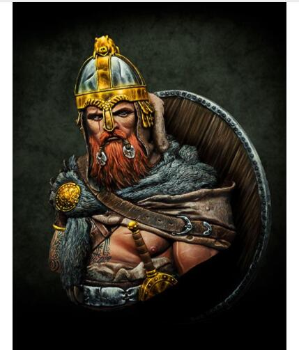 1/10 Viking Pride Ancient Warrior  Bust   Toy Resin Model Miniature Kit Unassembly Unpainted