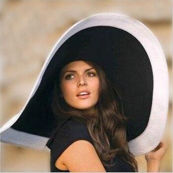 2017 nowych kobiet szerokie kapelusz dyskietek Derby kapelusz duży letni kapelusz słomkowy na plażę czapka
