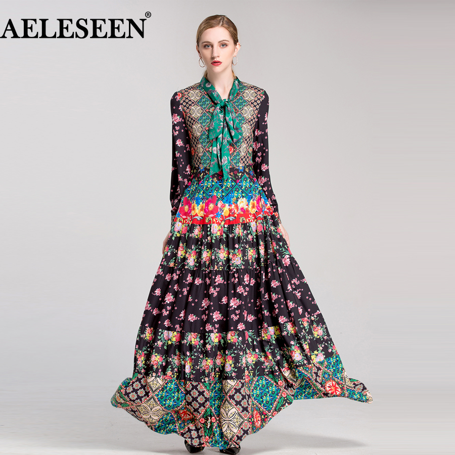 European Ladies Maxi Dresses 2018 Early Spring Fashion New ...