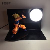 Dragon Ball Son Goku Vegeta Strength Bombs Luminaria Led Night Table Lamp Holiday Gift Led Lighting In EU US Plug