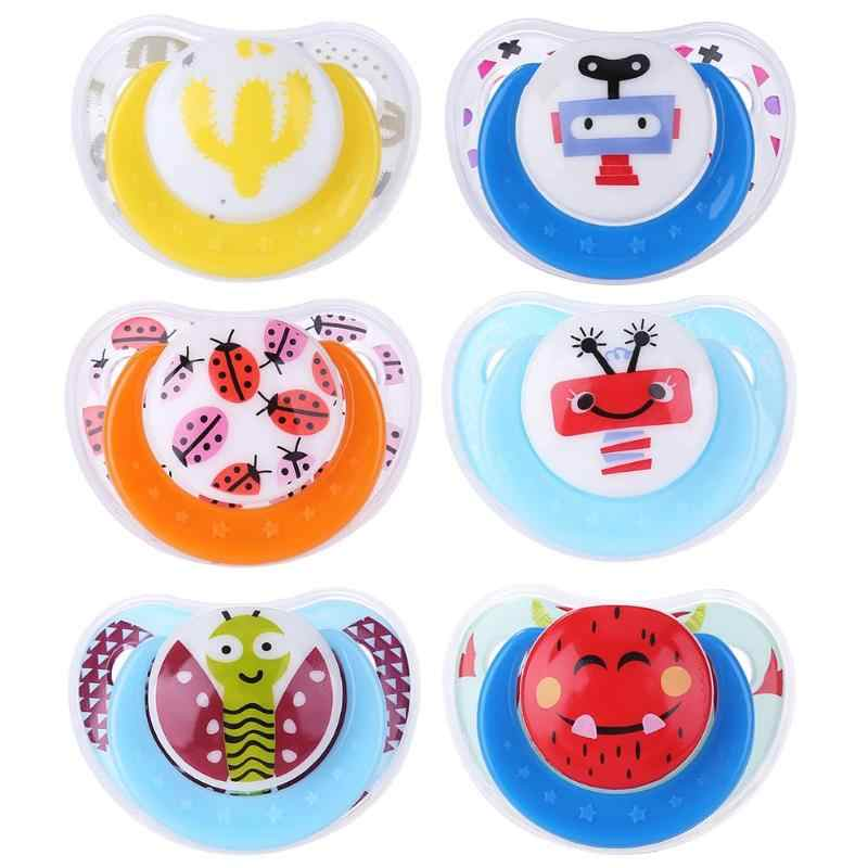 Cute Baby Pacifier Silicone Toy Newborn Boy Girls Anti-Dust Nipple Soother Baby Feeding Props Baby Appeased Nipple for Infants
