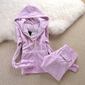 Sistemas de la Ropa Casual de Las Mujeres europeo Trajes de Terciopelo Invierno hooed abrigos pantalones Conjunto de Las Mujeres sudaderas pantalones delgados chándal Establece