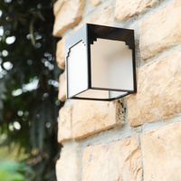 Solar lamp waterproof courtyard lamp modern minimalist exterior wall household outdoor wall lamp LU8301725