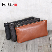 AETOO Leather wallet Sheep Skin super soft wallet men and women