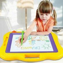 44*38 سنتيمتر كبيرة الحجم المغناطيسي رسم الكتابة على الجدران مجلس لعب الاطفال لوحة رسم خربش الكرتون اللوحة مع القلم لعبة التعلم قابلة لإعادة الاستخدام