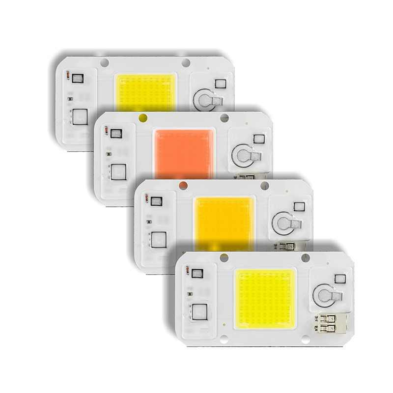 5PCS/Lot Dimmable LED COB Chip 20W 30W 50W AC220V Smart IC Grow Light DIY Day White Warm Cold White Full Spectrum LED Chip