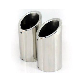 2ピース/ペアステンレス鋼リア排気マフラーヒントエンドパイプ用ゴルフ7 mk7 2013-2014車のスタイリングをカバー