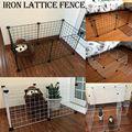 Складной загон для домашних животных железный забор щенок Конура тренировка щенок котенок космические товары для собак кролики клетка для ...