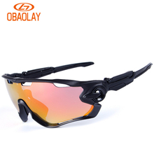 Obaolay HD Polarized Cycling Glasses Coating Outdoor Sports Goggles Waterproof UV400 20 Colors Riding Driving Bicycle Eyewear