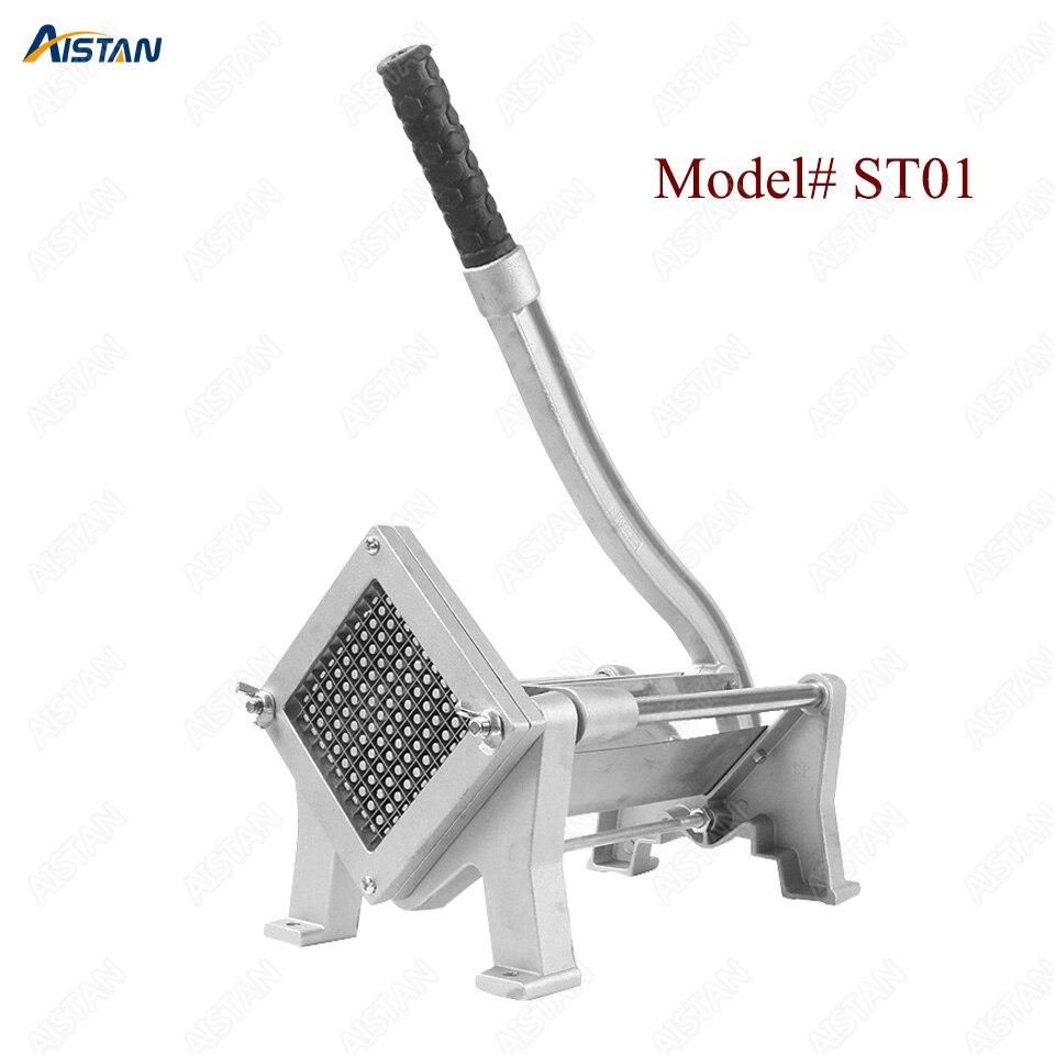 ST1 commerical manual aluminum die-casting potato chipper cutter potato chips cutting machine 1