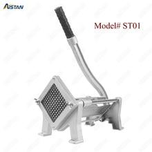ST1 commerical manual aluminum die-casting potato chipper cutter potato chips cutting machine