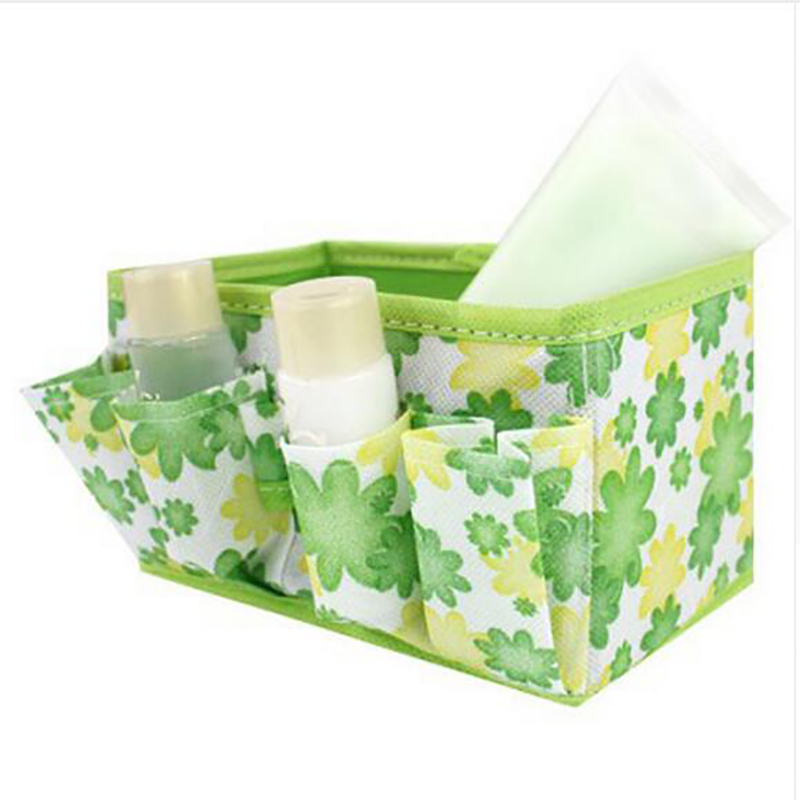 Beauty Flower Folding Makeup Perfume Clean up Cosmetic Lipstick Desktop Fold Storage Box Bag Organizer Container Bag Case